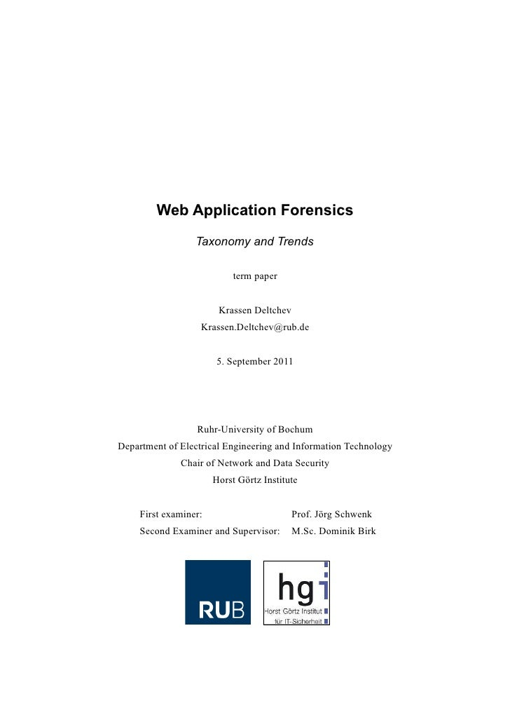 Web Application Forensics: Taxonomy and Trends