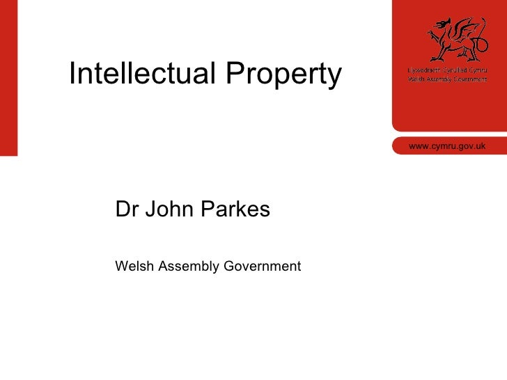 www.cymru.gov.uk <ul><li>Dr John Parkes </li></ul><ul><li>Wales Innovators Network </li></ul>Dr John Parkes Welsh Assembly...