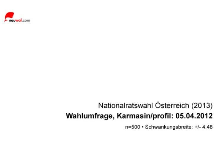 neuwal - Wahlumfrage Österreich: Karmasin/Profil (05.04.2012)