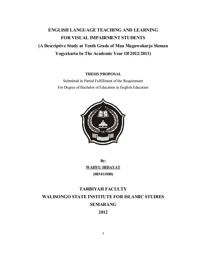 proposal skripsi kualitatif deskriptif
