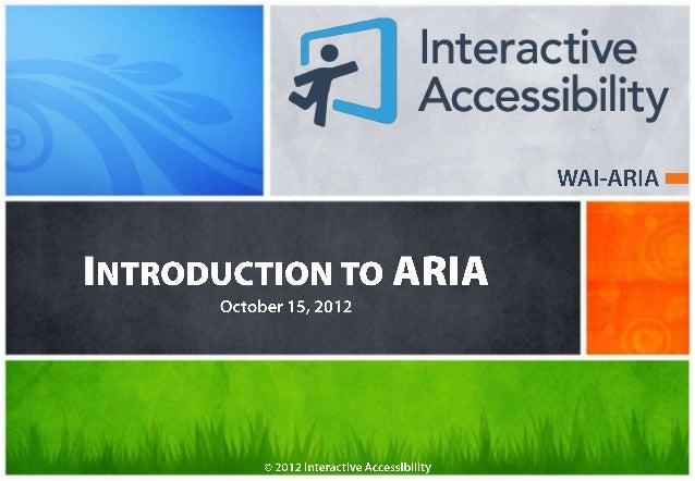 Introduction to WAI-ARIA
