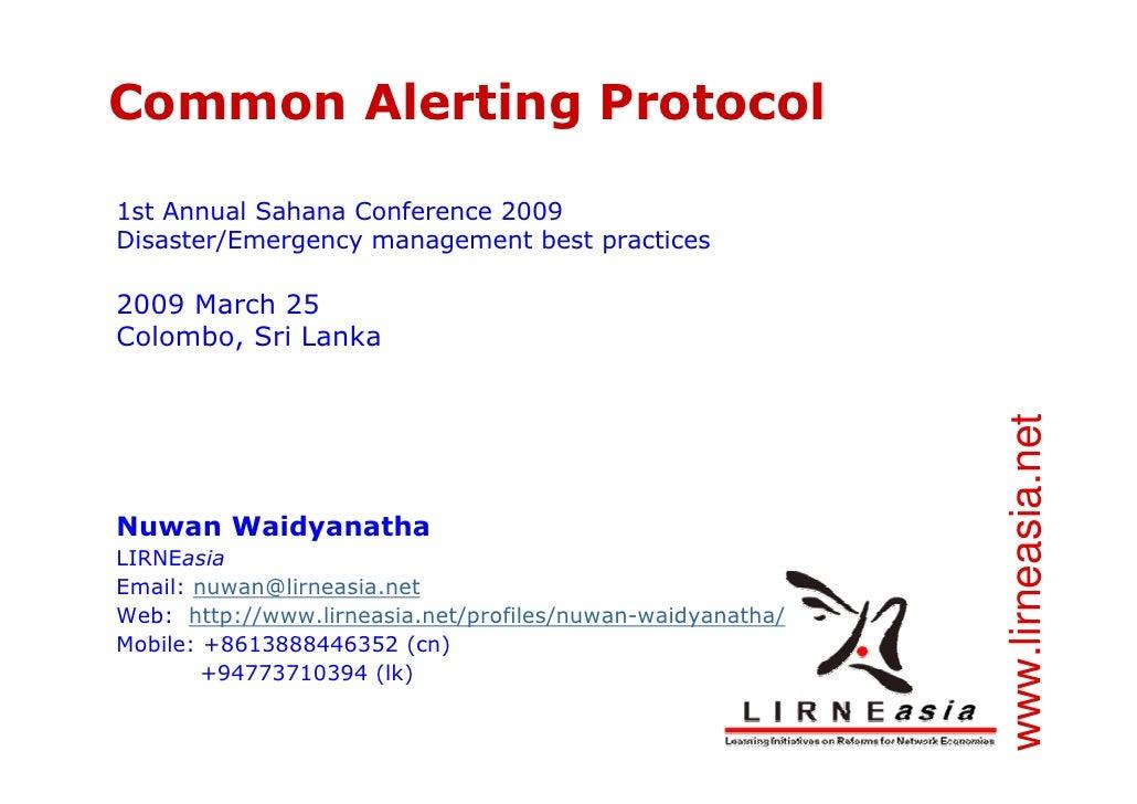 Common Alerting Protocol