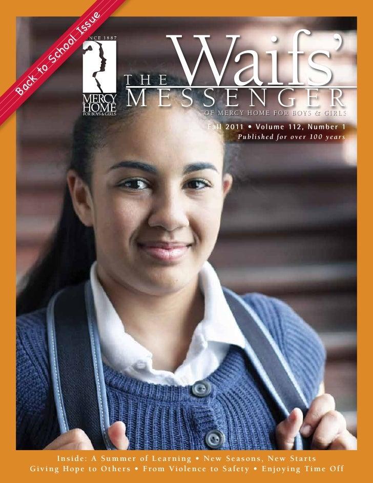 Waif's Messenger Newsletter Fall 2011