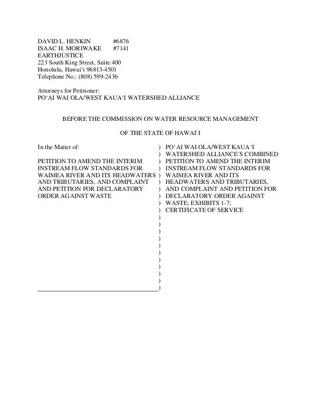 Earthjustice Petition Against Agribusiness Development Corporation