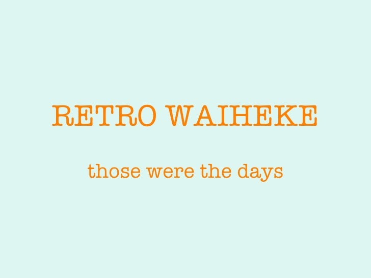 waiheke retro