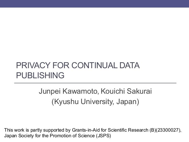Privacy for Continual Data Publishing