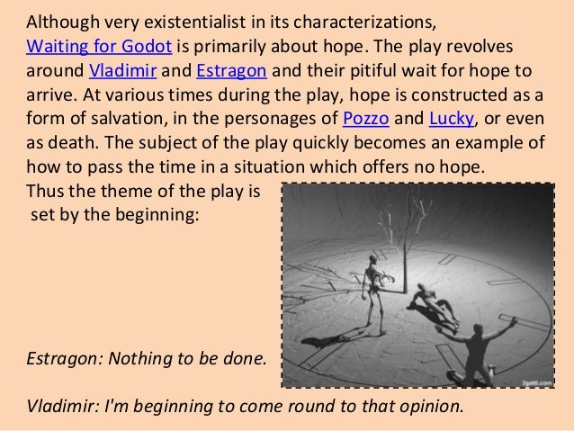 A philosophy paper on waiting for godot explaining Existentialism?