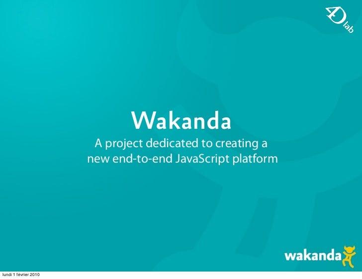 Wakanda: a new end-to-end JavaScript platform - JSConf Berlin 2009