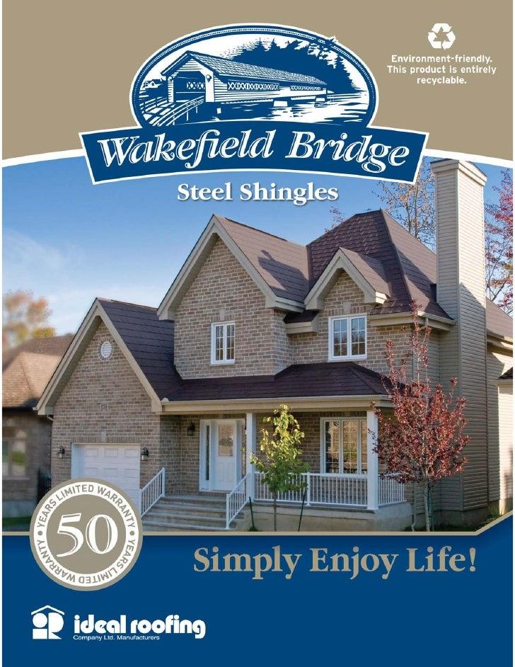 Wakefield Brochure of steel Shingles