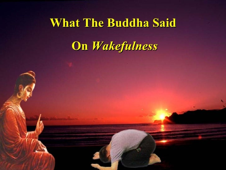 What The Buddha Said On  Wakefulness