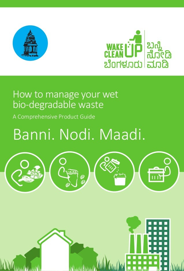Wake Up Clean Up  - How to process wet waste - Hand book-3.5.2013
