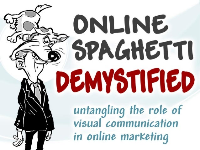 Online Spaghetti Demystified - untangling therole of visual communication in online marketing.