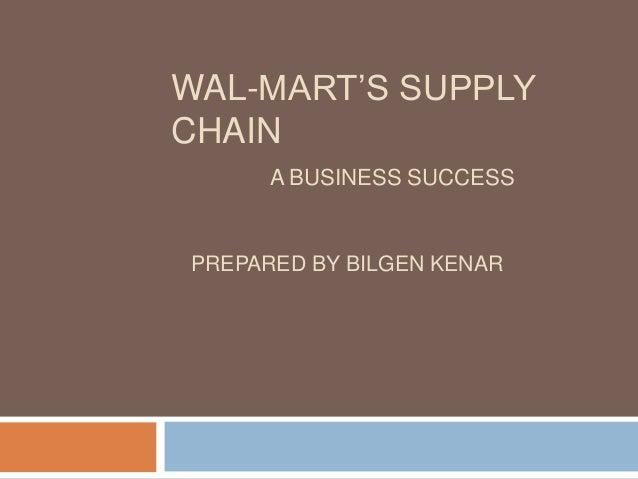 Wal mart's supply chain presantation