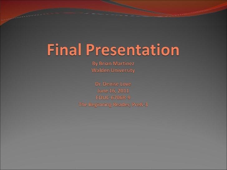 Walden final presentation