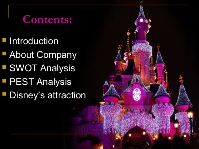 walt disney pest analysis Search for jobs related to walt disney pestel analysis or hire on the world's largest freelancing marketplace with 13m+ jobs it's free to sign up and bid on jobs.