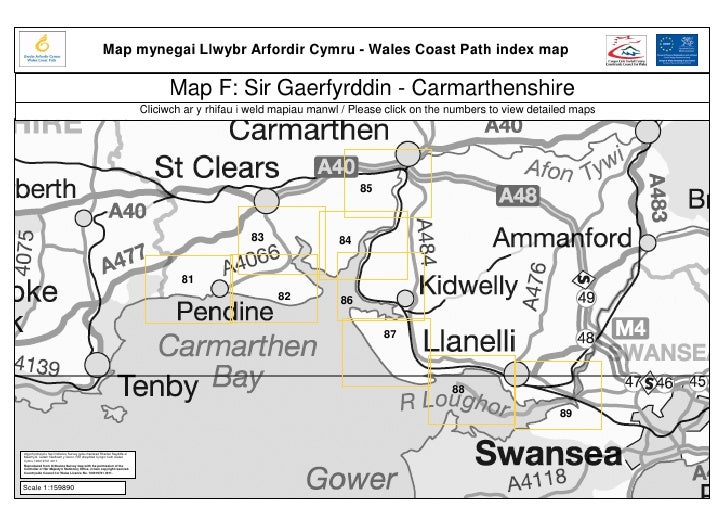 Wales coast path region f   carmarthenshire