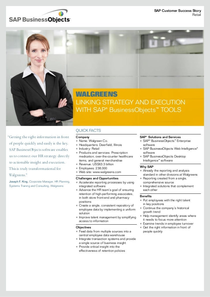 Walgreens - Aligning Execution with Strategy using SAP BusinessObjects