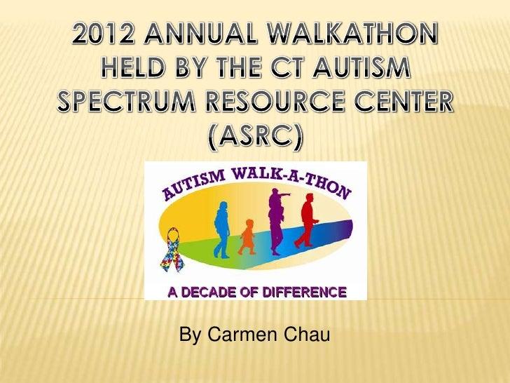 2012 Annual ASRC Autism Walkathon