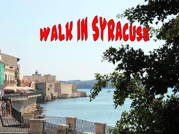 Walk in syracuse