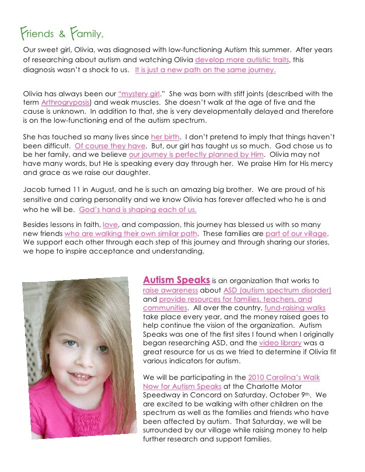 Friends & Family, Our sweet girl, Olivia, was diagnosed with low-functioning Autism this summer. After years of researchin...