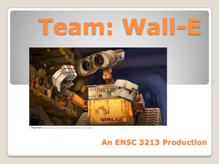 Team: Wall-EImage from: http://www.pixar.com/featurefilms/walle/images/walle-front.jpg                                    ...