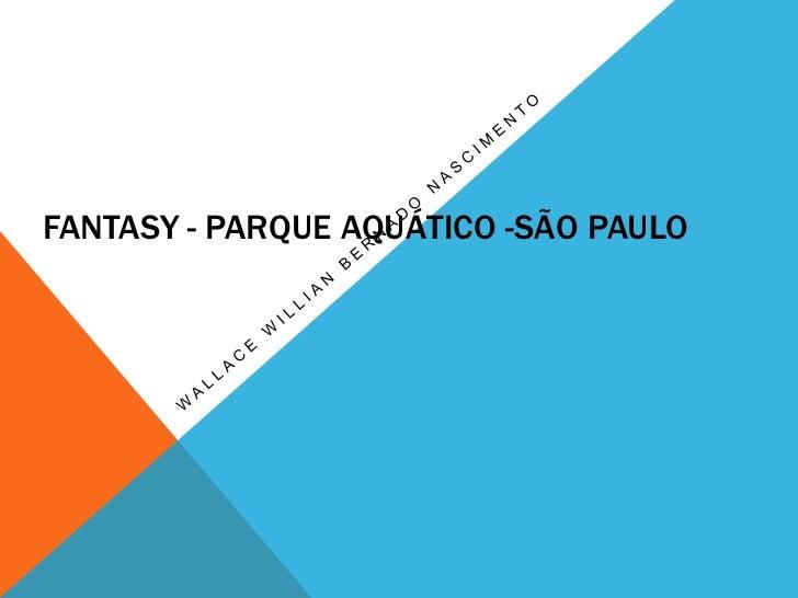 FANTASY - PARQUE AQUÁTICO -SÃO PAULO