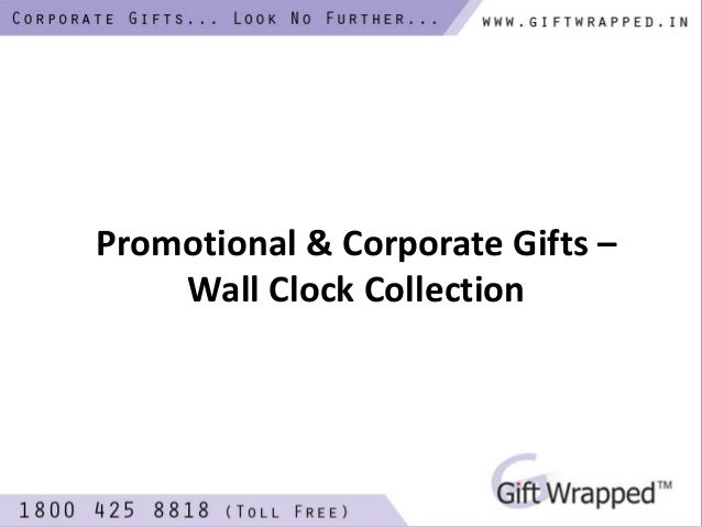 Promotional & Corporate Gifts - Wall Clock Collection