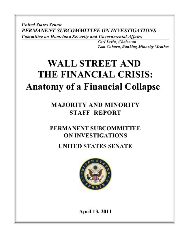 United States SenatePERMANENT SUBCOMMITTEE ON INVESTIGATIONSCommittee on Homeland Security and Governmental Affairs       ...