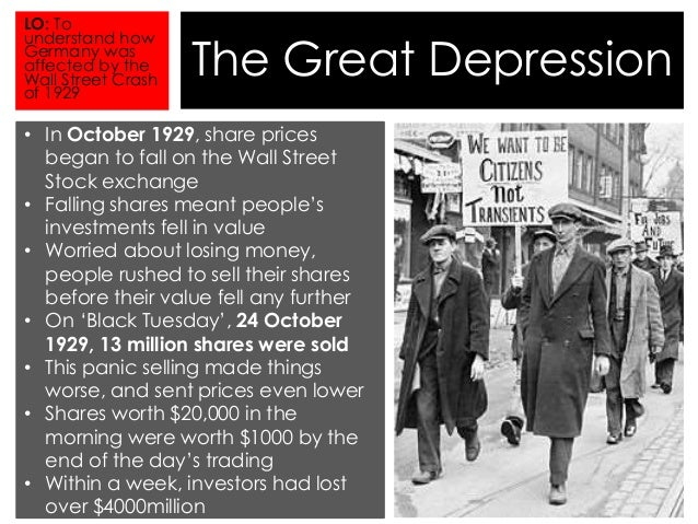 What was the short term significance of the Wall Street Crash of 1929?