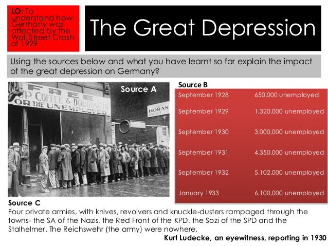 consequences of the great depression and The major effect of the great depression and the new deal on america was expanded government intervention into new areas of social and economic.