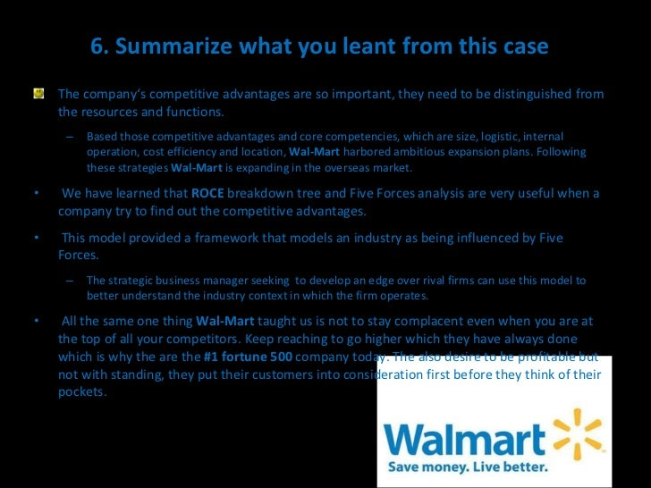 wal mart measures sustain its recent performance and defen Even in its early years, walmart's supply chain management contributed to its  success  in recent years, wal-mart has used radio frequency identification tags   sustainable competitive advantages, including lower product costs,  the  defense distribution depot in kuwait, spent a year with wal-mart as.
