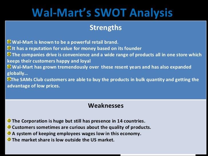Walmart swot analysis essay