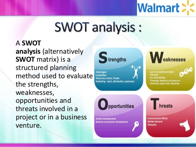 walmart external opportunities threats 2 how well the company has done in seizing upon external walmart assessment  help opportunities 3 how well has the company handled outside threats by.