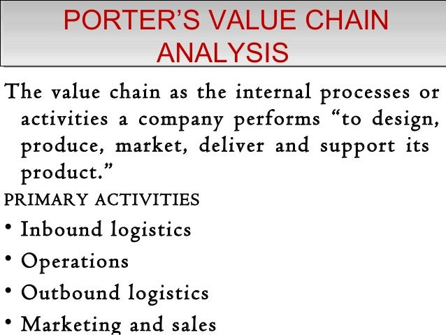 value chain analysis 2 essay Read this essay on value chain analysis come browse our large digital warehouse of free sample essays get the knowledge you need in order to pass your classes and more.