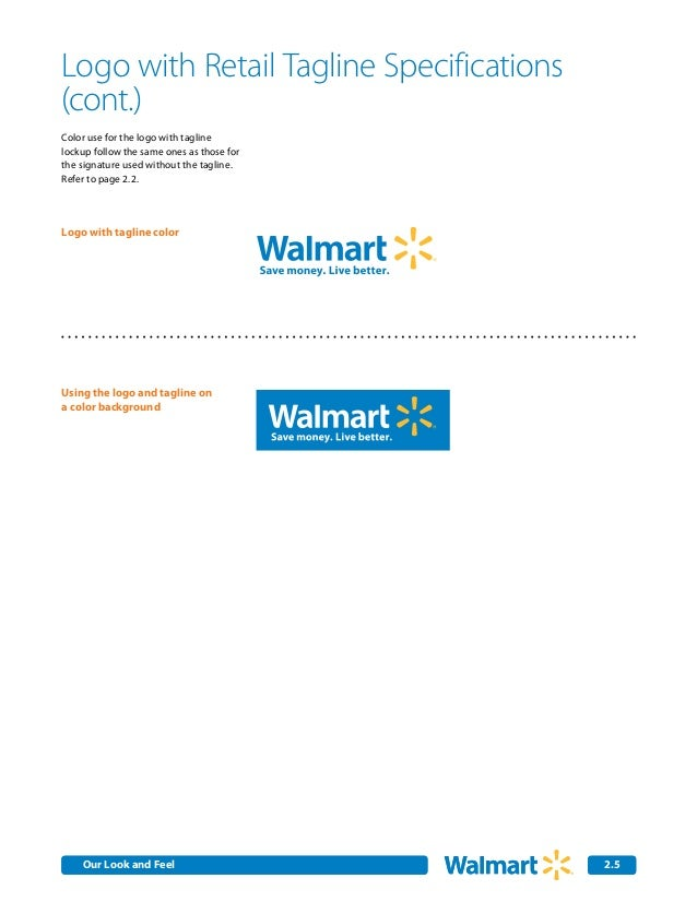Walmart Colors Logo on a Color Background Logo