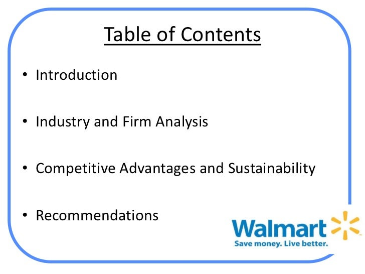 competitive advantage of wal mart Free essay: wal-mart's strategy for long-term competitive advantage today, firms are experiencing great success because of the impact that logistic managers.