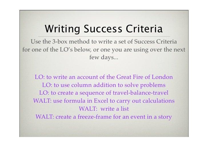 criteria for essay writing