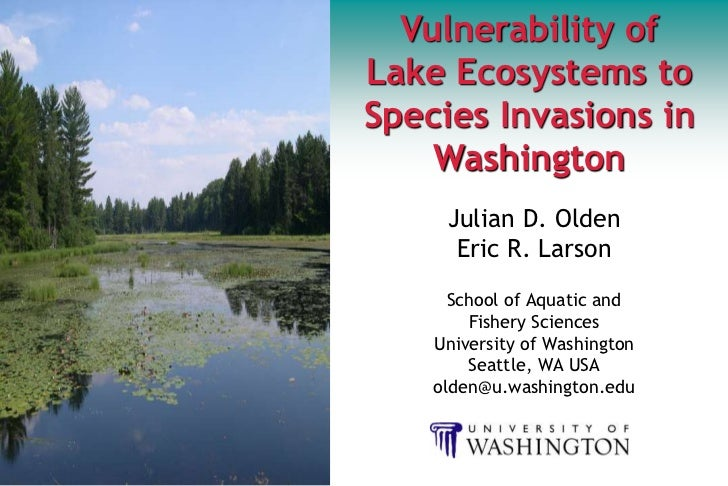 Vulnerability of lake ecosystems to species invasions in Washington