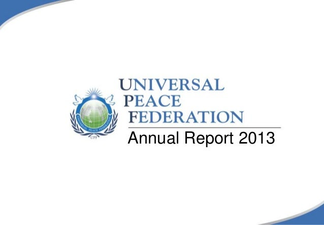 UPF Annual Report 2013