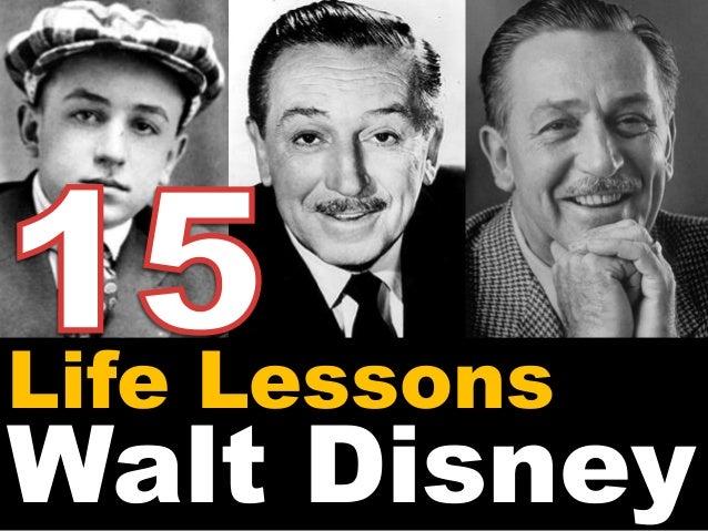 Life Lessons  Walt Disney