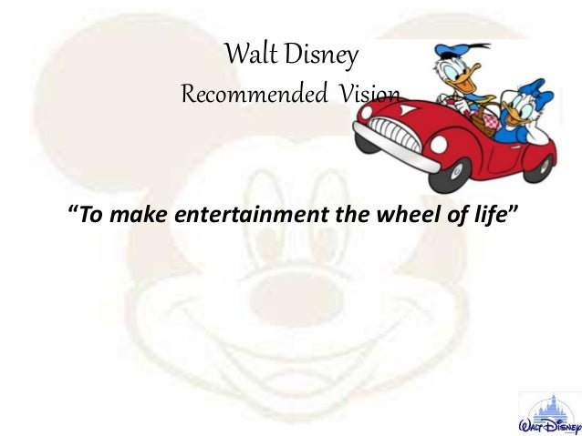 mission statement analysis walt disney 9 components The statement lacks 5 components: customers, technology, philosophy, concern for public image and employees, which should have been included it also doesn' t mention any of the 4 values used in our evaluation, so it is unclear as to what guides walt disney's actions disney's mission is focused on.