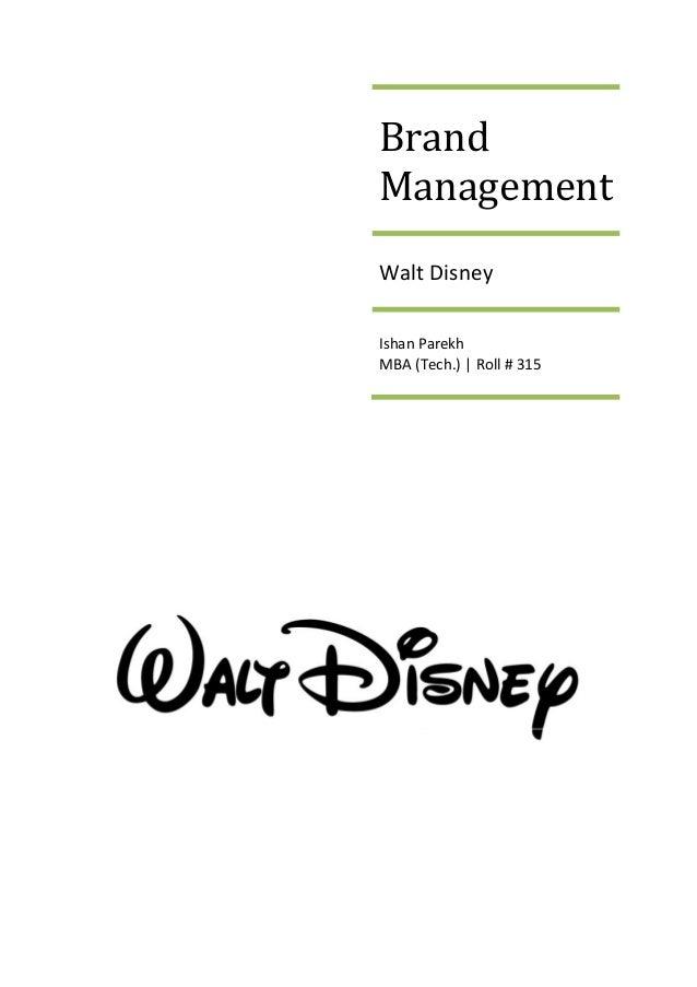 Thesis statement for Walt Disney?