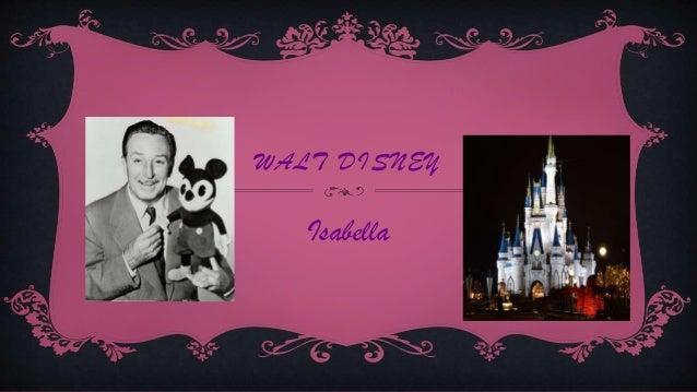 WALT DISNEY Isabella