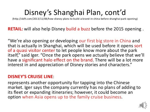 Walt Disney Company as a Good Example of how Succe...