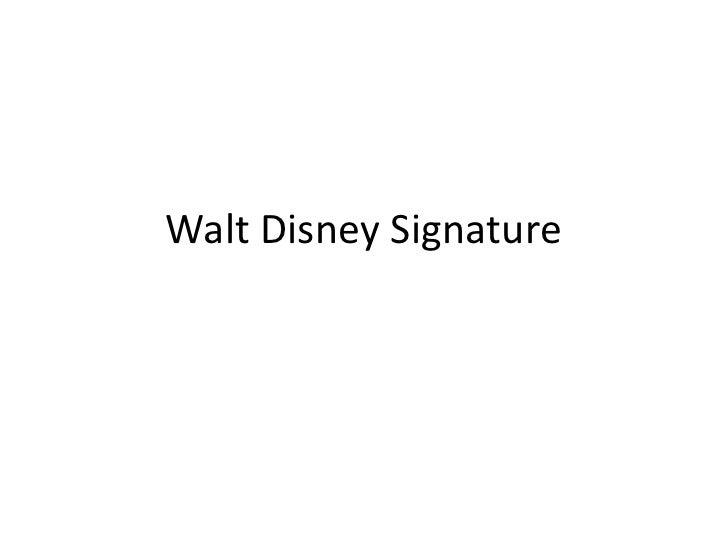 Walt Disney Signature<br />