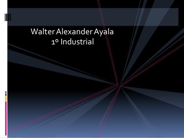 Walter Alexander Ayala     1º Industrial