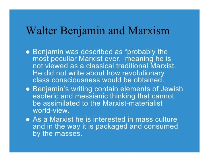 walter benjamin essay collection Actuality of walter benjamin  including the best known collection illuminations,  walter benjamin's artwork essay reconsidered.