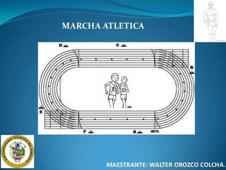 MARCHA ATLETICA        MAESTRANTE: WALTER OROZCO COLCHA.