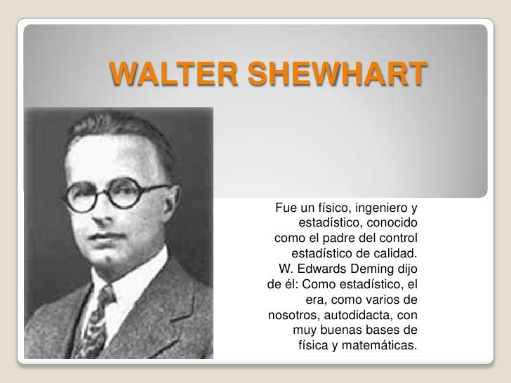 Postulate 1 All Chance Systems Of Cause By Walter A Shewhart Like Success