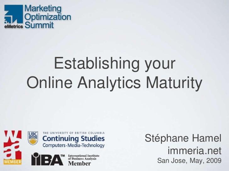 Web Analytics Maturity Model
